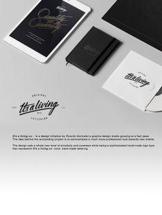 ITS A LIVING Re Branding By Ricardo Gonzalez Via Behance Excellent Use Of Manuscript Design