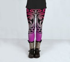 Pink celtic designed yoga or fitness womens by ParadoxYoga on Etsy