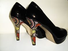 Cant wait to paint some of my custom Aboriginal Dot Painted shoes for all m bridesmaids