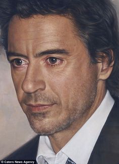 Joongwon Charles Jeong piece of Robert Downey JR : Paintings: Wow! : Click to see more of his work