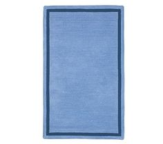 Capel Chenille Rug 5' x 8' Rectangle, Blue with Navy