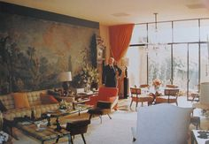 William Haines' 1970's take on Hollywood Regency Revival, which he popularized in the 1930's.