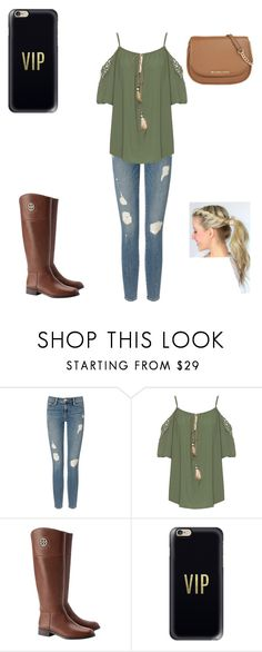 """Untitled #325"" by a-hidden-secret ❤ liked on Polyvore featuring Frame Denim, WearAll, Tory Burch, Casetify and MICHAEL Michael Kors"
