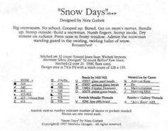 Solo Patrones Punto Cruz 4/5 Snow Days