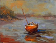 Low+Tide+,+9x12,+oil+on+canvas,+paintings+of+boats,+low+tide,+Bay+of+Fundy,+old+wooden+boats,+Maine+boats,+painting+by+artist+Maryanne+Jacobsen