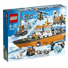Compare prices on LEGO City Set Arctic Icebreaker from top online retailers. Save money on your favorite LEGO figures, accessories, and sets. Lego Sets, Lego City Sets, Lego City Police, Lego Creator, Lego Duplo, Cool Lego, Cool Toys, Awesome Lego, Lego Boot
