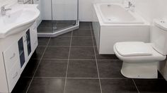 Dream Zone - - Although flooring is underfoot, it doesn't mean it shouldn't be given any attention. Beautiful Bathrooms, Tile Floor, Toilet, Flooring, Ideas, Home, Flush Toilet, Tile Flooring, Ad Home