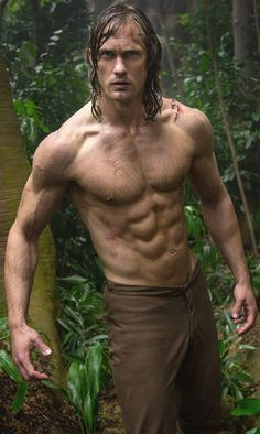 Wowza: Fans had their appetite whet with stunning images of star Alexander Skarsgard in all his shirtless glory in new images for The Legend Of Tarzan Alexander Skarsgard Tarzan, Tarzan E Jane, Tarzan Movie, Jane Porter, Eric Northman, Cinema, Alexander Skarsgård, Actrices Hollywood, Young Actors
