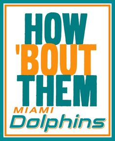 How bout them dolphins