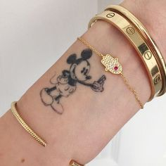 Mickey Mouse Tattoos to Preserve the Walt Disney Magic Mickey Tattoo, Disney Tattoos, Micky Mouse Tattoo, Mickey And Minnie Tattoos, Mouse Tattoos, Mini Tattoos, Body Art Tattoos, Small Tattoos, Pretty Tattoos