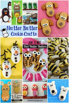 Kids will have a blast creating 12 Nutter Butter Cookie Crafts. They can easily decorate store bought cookies to look like hippos, owls and even frogs. Edible Crafts, Food Crafts, Diy Crafts, Activities For Kids, Crafts For Kids, Creative Activities, Nutter Butter Cookies, Cute Food, Snack
