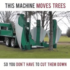 machine, moves, trees GIF