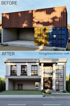 Building A Container Home, Container Buildings, Container Architecture, Architecture Design, Container Homes, Sustainable Architecture, Modern Tiny House, Small House Design, Tiny House Plans