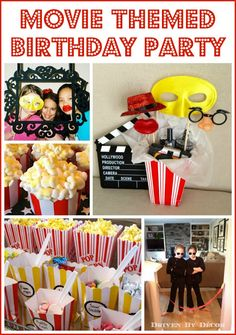 Driven By Décor: Movie Themed Birthday Party Movie Theater Party, Movie Night Party, Party Time, Movie Party Favors, Movie Nights, Party Fun, 10th Birthday Parties, Birthday Fun, Birthday Party Themes