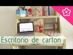 Muebles de cartón apariencia de Madera DIY: Escritorio Tocador estilo coqueta - DecoAndCrafts - YouTube