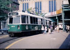 This scene simply does not exist any more. The surface stop, elevated and Boston Garden - North Station have been demolished. North Station was rebuilt, the Fleet Center is above it and the green line now shares an underground Super Station with the Orange Line here. The Type 7 still soldiers on for the MBTA.