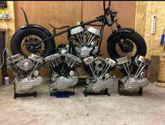 knucklehead vs panhead vs shovelhead    The evolution of the Harley engine Not shown? The