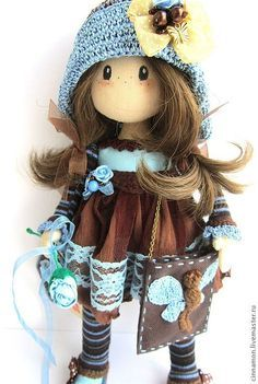 Текстильные куклы красивы и разнообразны