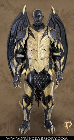 Leather Dragon Fantasy Armor Complete by Azmal.deviantart.com on @deviantART