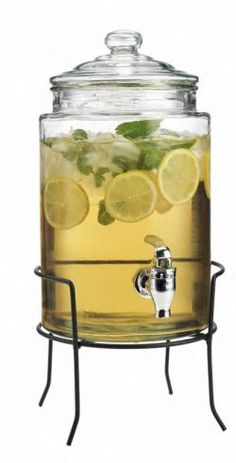 Finally, The Party Entertaining Essential is Back now for just $39.99! This Drink Dispenser has leak proof spout and sits on a metal stand.Serving sangria, punch, water or any refreshment just got a lot easier with the beverage dispenser. no more heavy pitchers to lift or splatter to clean.
