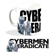Doctor Who Mug Cybermen Eradicate | Captain Hook Merchandise