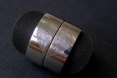 fingerprint weddingrings  / Heart