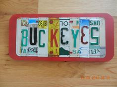 Buckeyes License Plate Sign Ohio State by TreasuredSunsets on Etsy, $31.95
