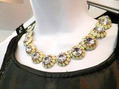 Flower diamond necklace: $26.95