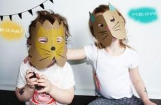 DIY Animal Masks: DIY Costumes: Simple And Cute DIY Cardstock Paper Animal Masks