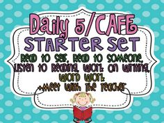 Classroom Freebies Too: Kindergarten Daily 5