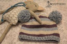 knitted pompom beanie