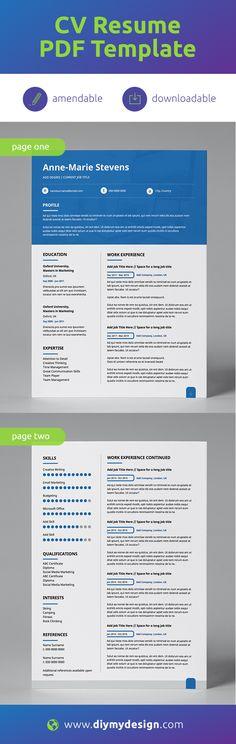 We provide professionally pre-designed & editable templates. Resume, business stationery & branding templates in easy-to-use printable PDF! Resume Pdf, Modern Resume Template, Creative Resume Templates, Cv Template, Cv Design, Resume Design, Career Goals, Job Opening, Professional Resume