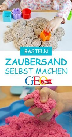 We make magic sand with you. So you can play great inside and . Wir stellen mit euch Zaubersand her. Damit könnt ihr prima drinnen spielen und … We make magic sand with you. So you can play and dig inside! it Yourself Diy Décoration, Easy Diy, Diy For Kids, Crafts For Kids, Pot Mason Diy, Jouer, Diy Projects To Try, Garden Projects, Wood Projects