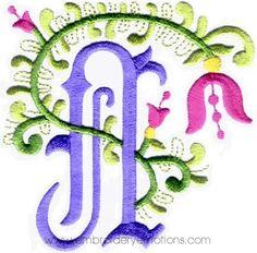 Floral Alphabet Machine Embroidery Designs   Flickr - Photo Sharing!