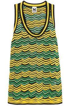 M Missoni Crochet-knit cotton-blend top   NET-A-PORTER