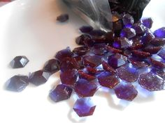 Handmade, Edible Gems, Amethyst,  Hard Candy, Candy Gems, Cake Decoration 230 #SugarBakers