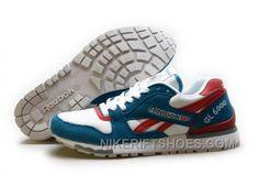 super popular b3807 9f79f Reebok GL6000 Mens Classic Running White Blue Red Christmas Deals 78eRN,  Price   74.00 - Nike Rift Shoes