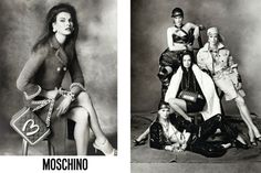 Moschino, A+: Jeremy Scott managed to snag some of the biggest supermodels in the world — Carolyn Murphy, Karen Elson, Linda Evangelista and Raquel Zimmermann for starters — for his first Moschino campaign. Shot by Steven Meisel, the kitschy, junk culture-inspired collection comes across grown up and glamorous, and the images look downright iconic. Well done.