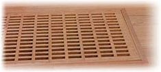 Egg Crate | Wood Vent Covers | Wooden Finishings | Cold Air Return | Register Covers