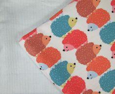 Baby Blanket Handmade Cute Colorful Hedgehog Print Blanket Baby Shower Gift Stroller Blanket