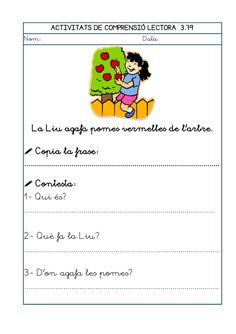 Dori dos 1112_mt005_r1_comprensio_lectora_3 Catalan Language, Sistema Solar, Preschool, Writing, How To Plan, Children, Texts, Reading Comprehension, Storytelling
