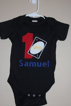 UNO Birthday Onesie by Oohlawee on Etsy