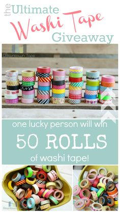 50 Rolls of Washi Tape GIVEAWAY! Click on the picture... Come on, you want them!