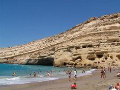 Matala beach in Heraklion - Crete