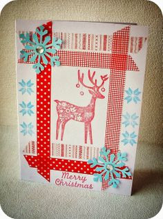 After Hours...: (Early) Christmas Cards 2013 (8): Cards with washi tapes