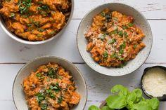 One pot pasta med spinat, champignon og mascarpone - Life By Nan