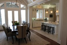 Ideas for Texas living rooms and open floorplan design ... by Trent Williams Construction, Tyler, Texas