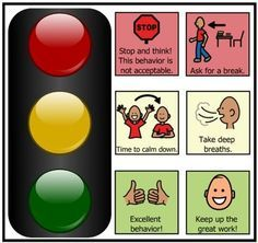 Free traffic light behavior management tool for self-monitoring Stoplight Behavior, Classroom Behavior, Autism Classroom, Kids Behavior, Behavior Chart Preschool, Classroom Rules, Behavior Interventions, Behaviour Chart, Coping Skills