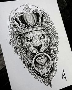 Discover recipes, home ideas, style inspiration and other ideas to try. Lion Tattoo Design, Tattoo Design Drawings, Tattoo Sleeve Designs, Tattoo Sketches, Tattoo Designs Men, Lion Design, Lion Tattoo Sleeves, Sleeve Tattoos, Lion Head Tattoos