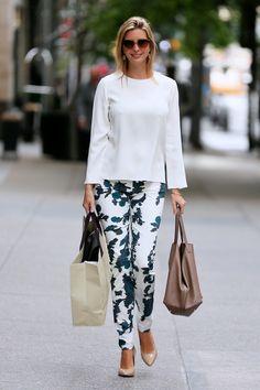 Ivanka's tropical print pants